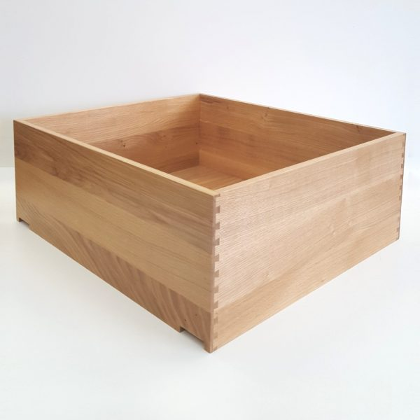 Oak Dovetail Drawer Box - Height 225mm